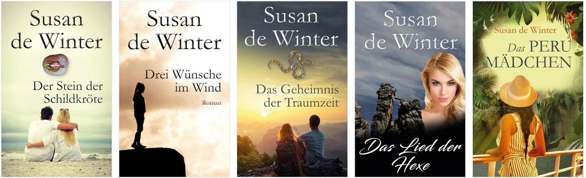 Susanne Müller veröffentlicht als Susan de Winter Romane auf Amazon.