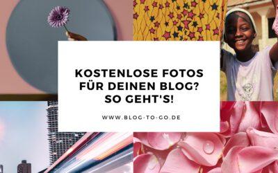 So findest du kostenlose Fotos für deinen Blog